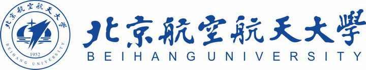 北京航空航天大学校徽带校名图案图片素材|png
