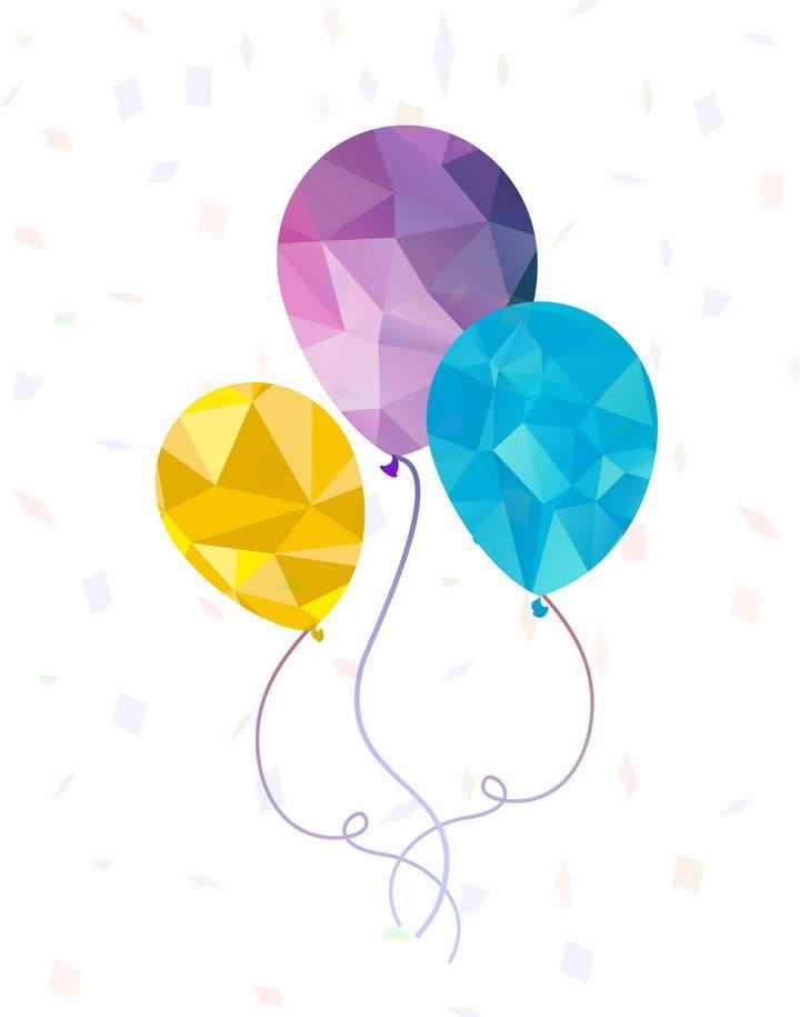 简约的钻石图案气球图片免抠素材