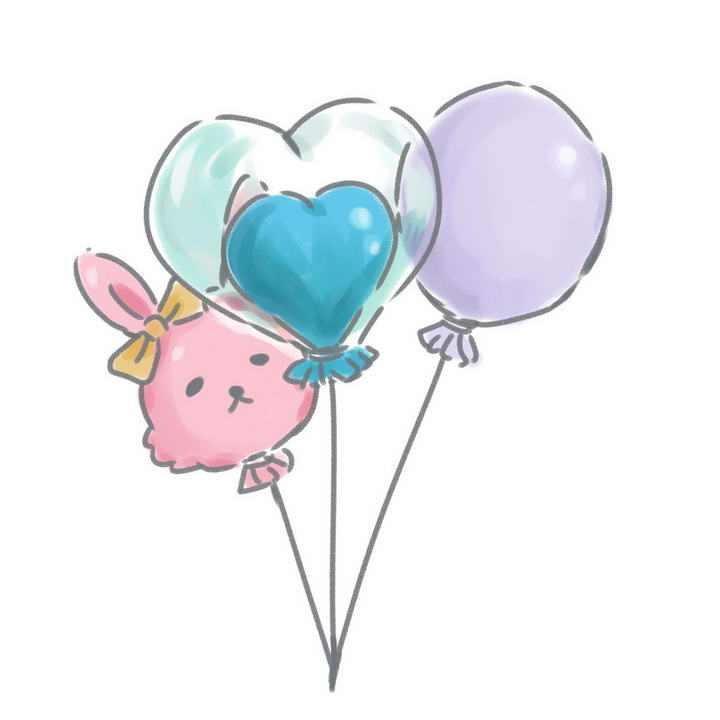 手绘风格卡通气球图片免抠素材