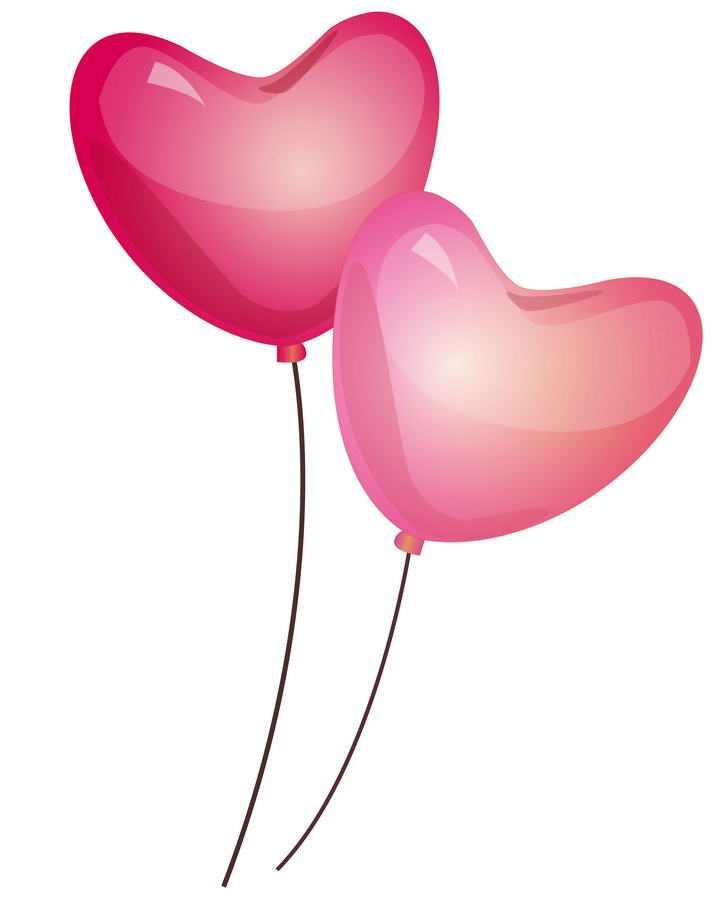 水晶风格红心爱心造型的气球图片免抠素材