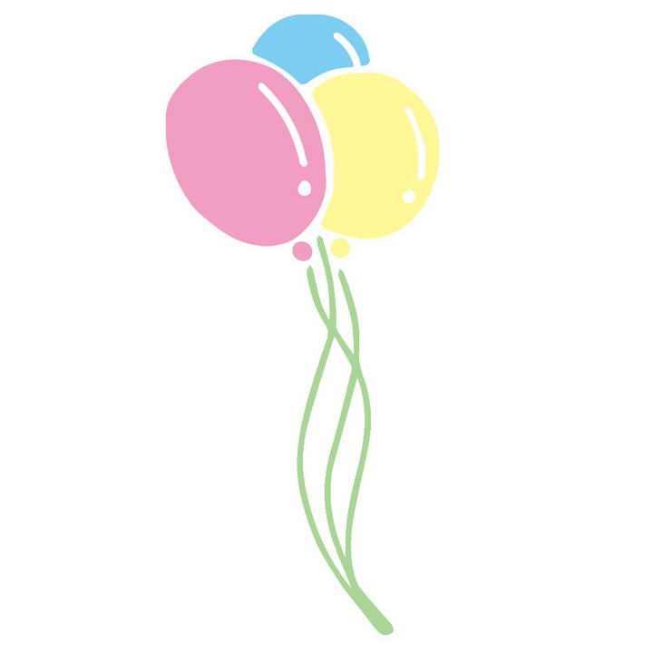极简风格的三个气球图片免抠素材