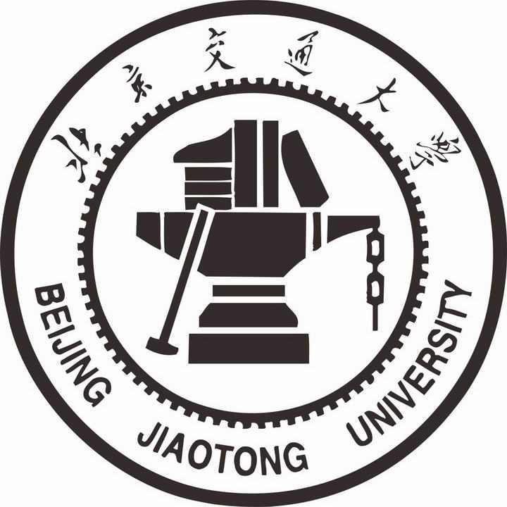 黑色北京交通大学校徽图案图片素材