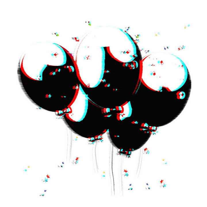 抖音风格的气球图片免抠素材