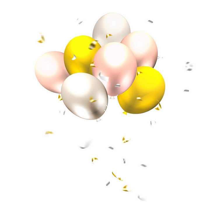 金色粉色风格气球图片装饰设计素材