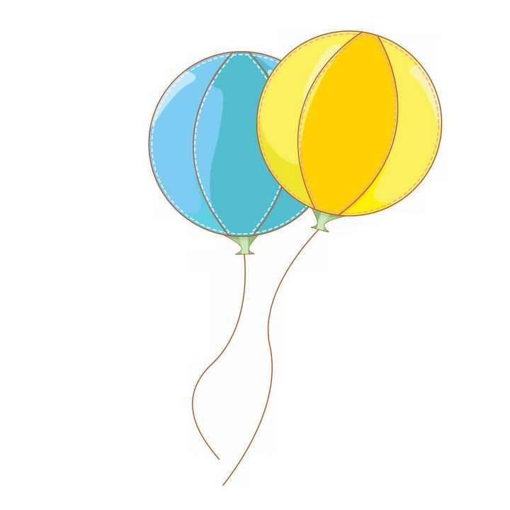 手绘风格拼色气球图片免抠素材