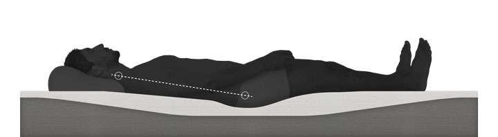 黑色灰色男子躺在床垫上的支撑示意图png图片透明背景免抠素材