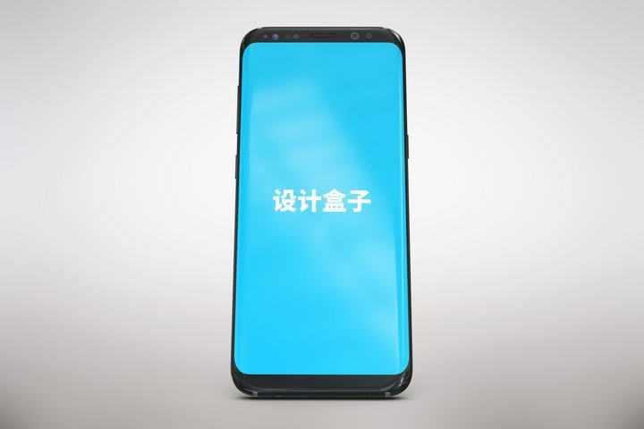 竖版黑色智能手机模型屏幕正面显示样机图片免抠素材