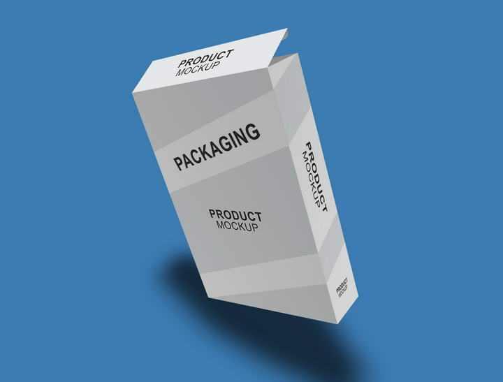 办公室专用打印纸包装盒样机图片免抠设计素材
