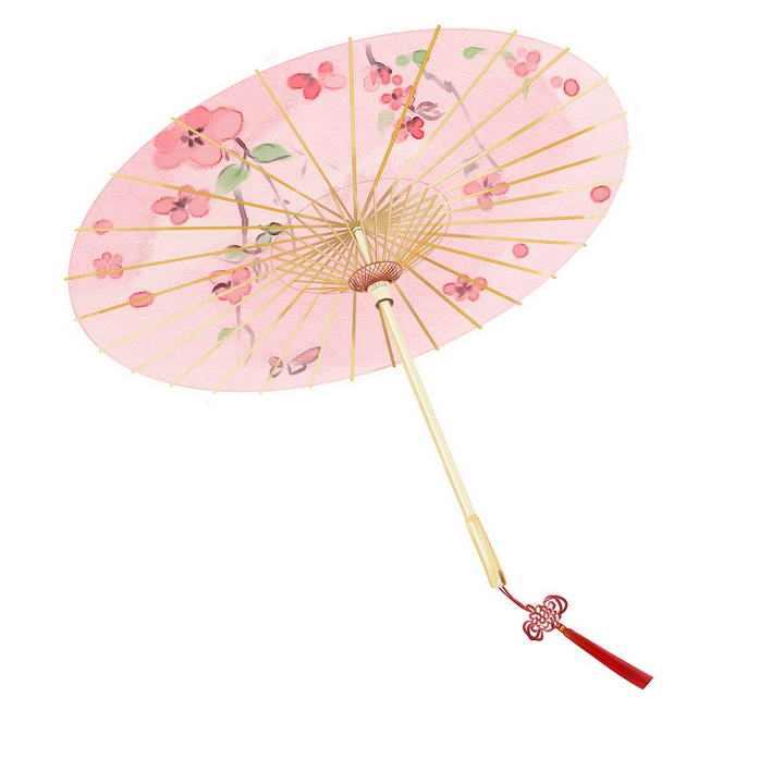粉色中国传统风格雨伞油纸伞图片免抠素材
