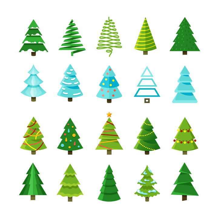 20款创意造型圣诞树图片免抠素材