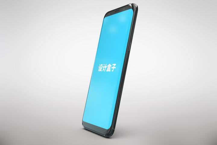 黑色智能手机模型屏幕显示样机免抠素材