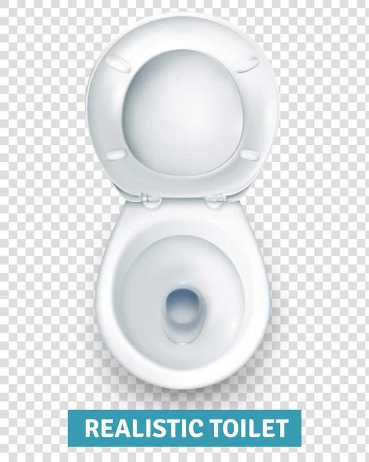 一款马桶俯视图卫生间图片免抠素材