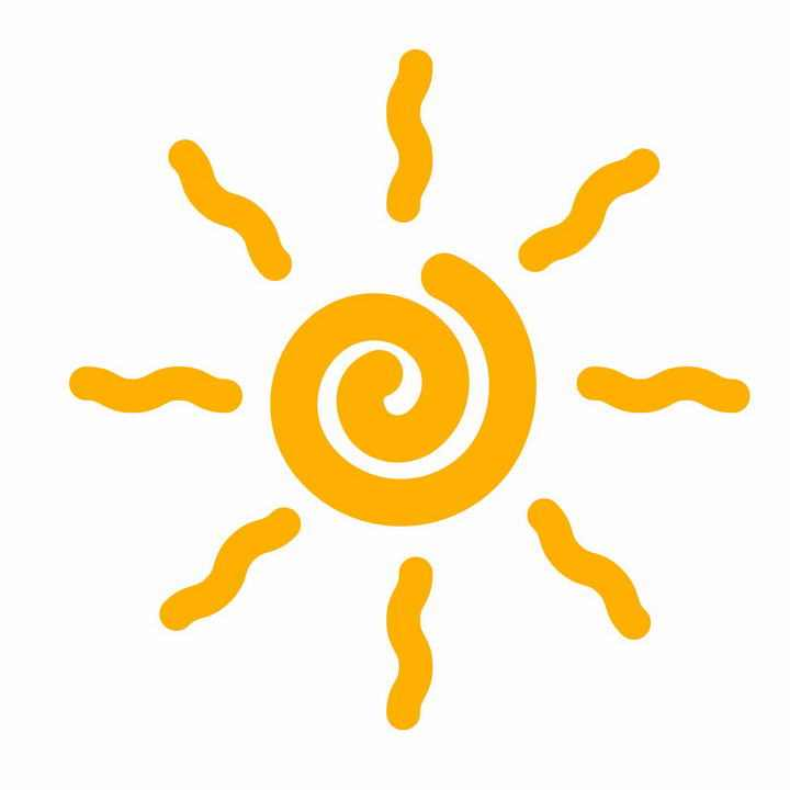 简约手绘风格卡通太阳图案图片免抠素材