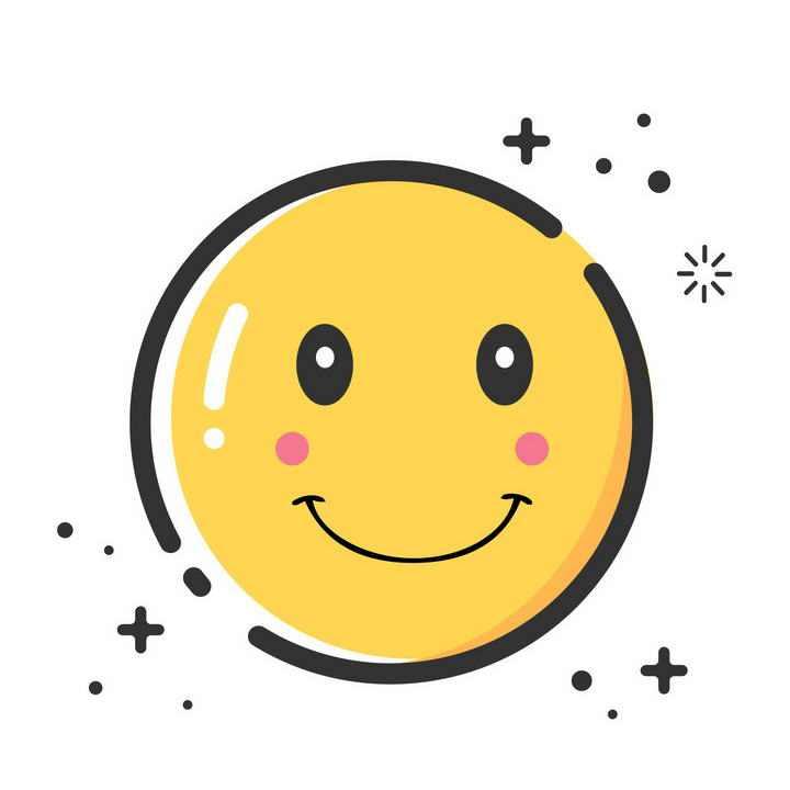 MBE风格微笑表情图片免抠素材