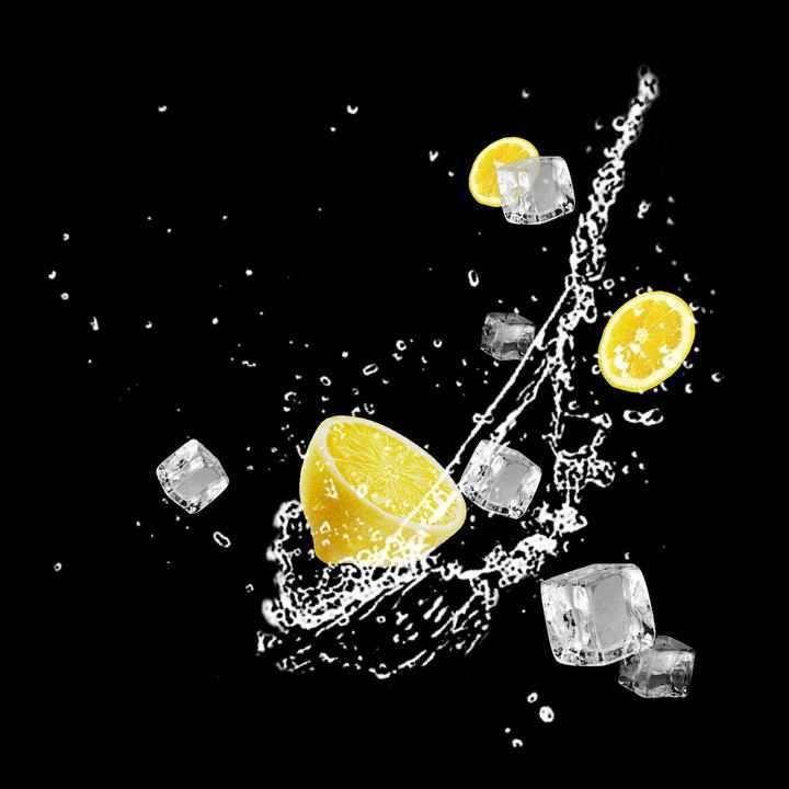 柠檬和冰块效果图片免抠素材
