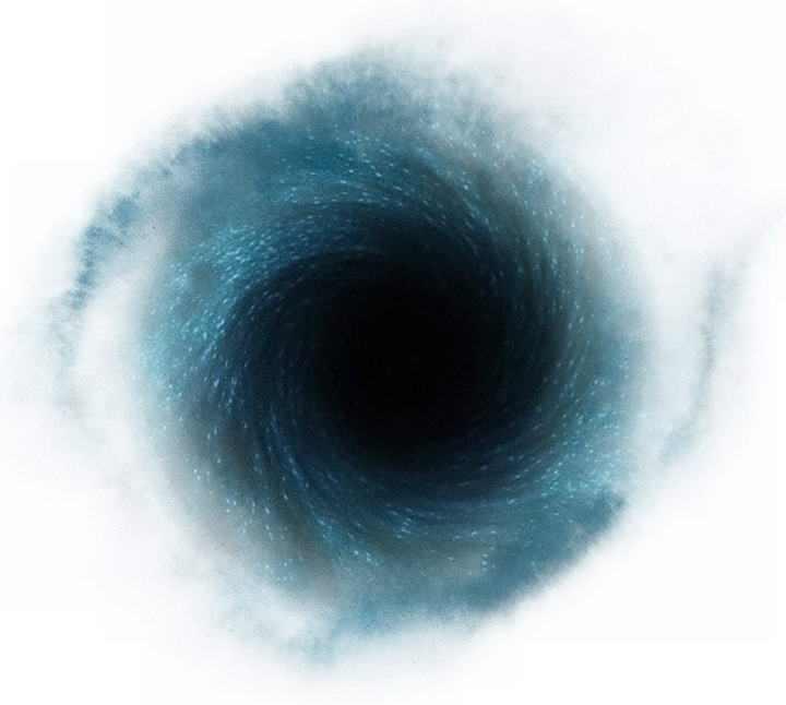 一颗旋转的黑洞天文奇观图片免抠素材