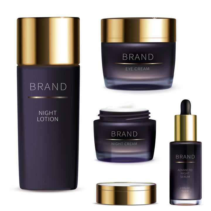 紫色化妆品护肤品图片免抠素材
