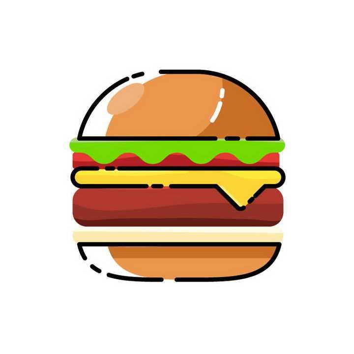 MBE风格汉堡西餐美食图片免抠素材