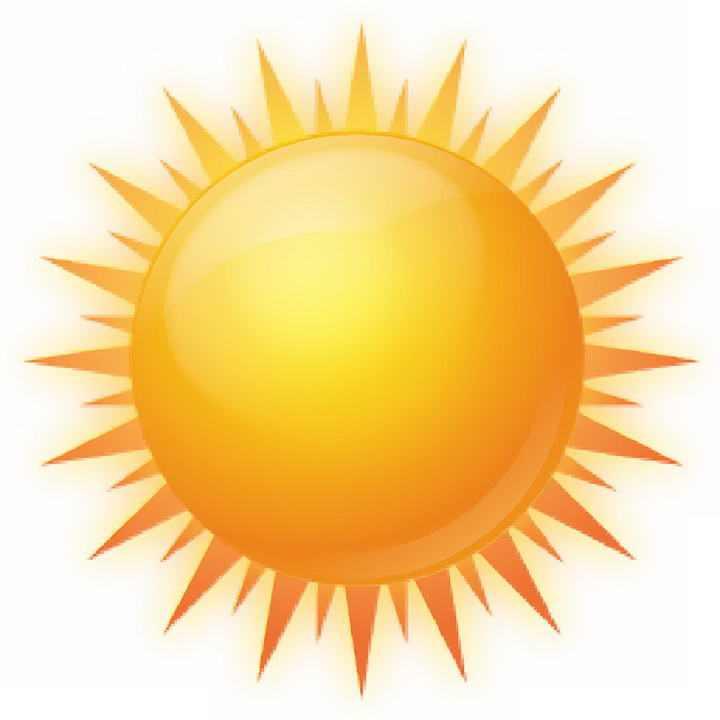 水晶风格黄色的太阳图片免抠素材