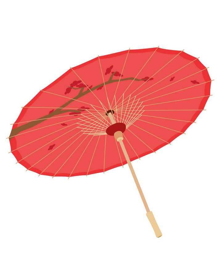 红色中国风雨伞油纸伞图片免抠素材