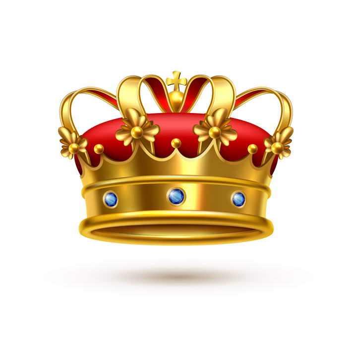 一款黄金风格的皇冠图片免抠素材