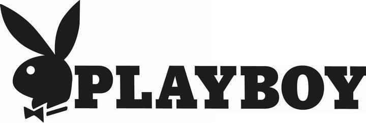 横版黑色花花公子标志图标LOGO透明背景png图片素材