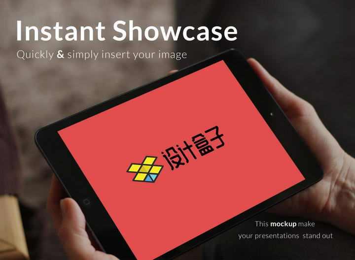 双手捧着的黑色苹果ipad平板电脑屏幕内容显示样机素材