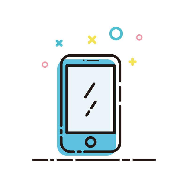 MBE风格卡通的智能手机图片免抠素材