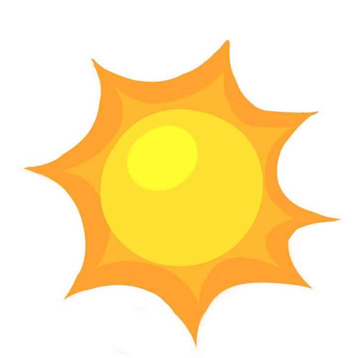 可爱卡通风格夏天的太阳图片免抠素材