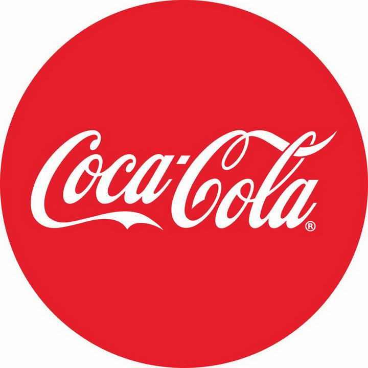 红色背景可口可乐英文字体标志图标LOGO透明背景png图片素材