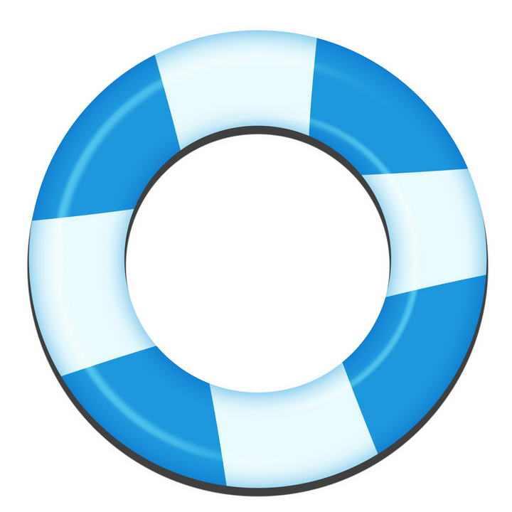 蓝色的救生圈游泳装备图片免抠素材