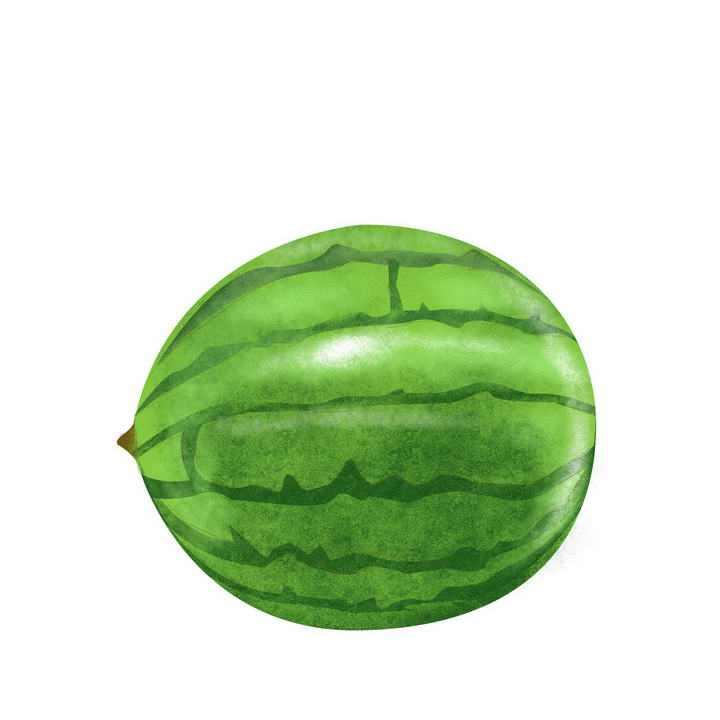 手绘风格的西瓜夏日水果图片免抠素材