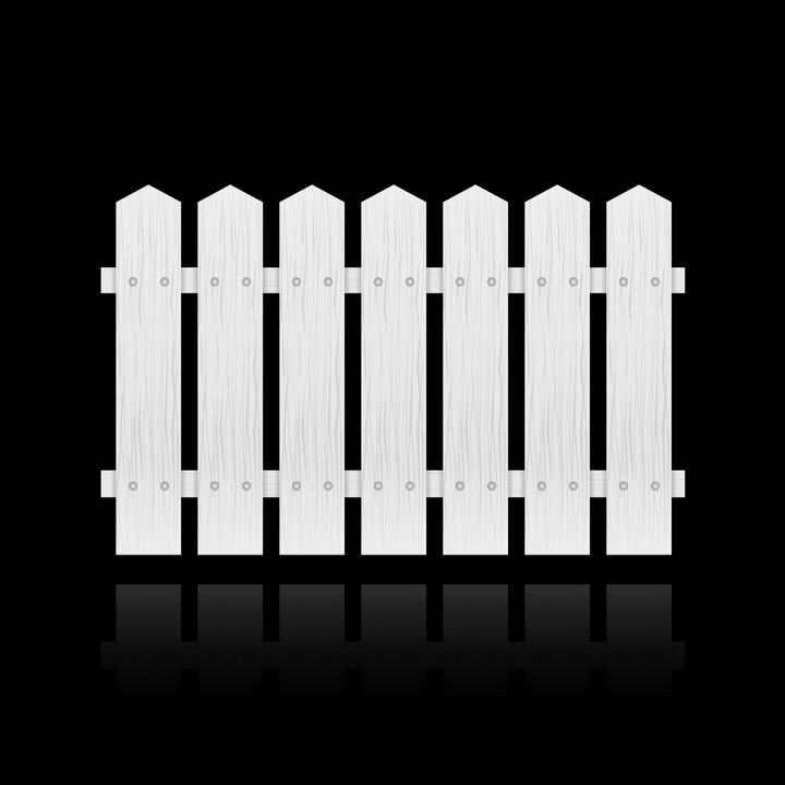 白色木栅栏木围栏图片免抠素材
