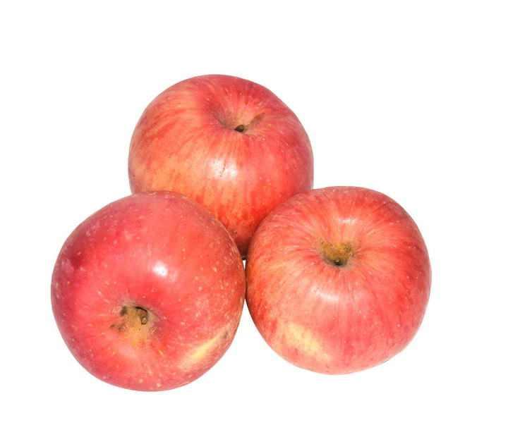 三个红色苹果水果图片免抠素材