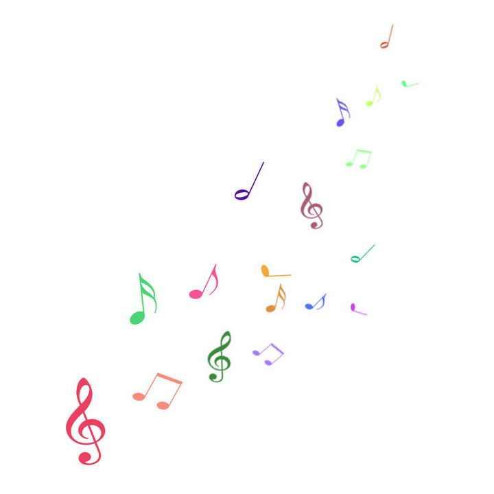 简约彩色音乐音符图案装饰图片免抠素材