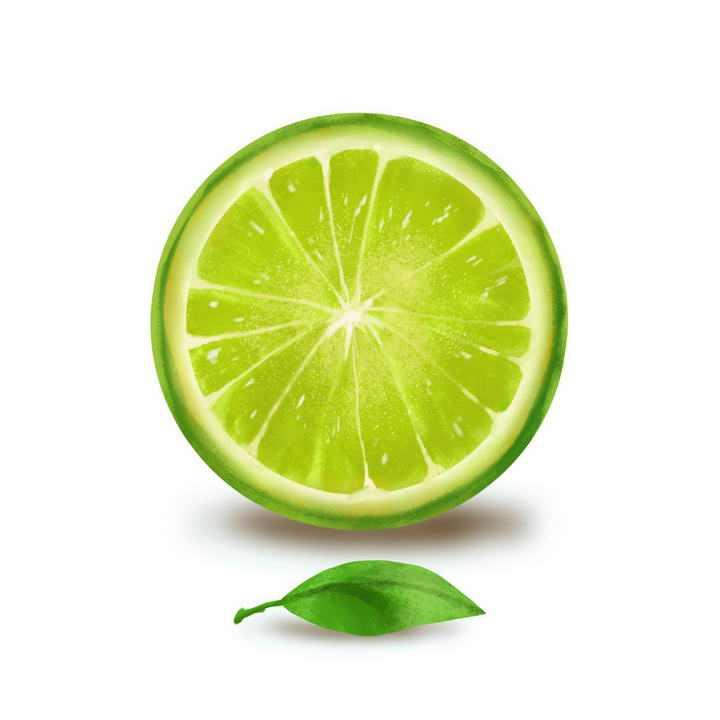 水彩画风格青柠檬水果图片免抠素材