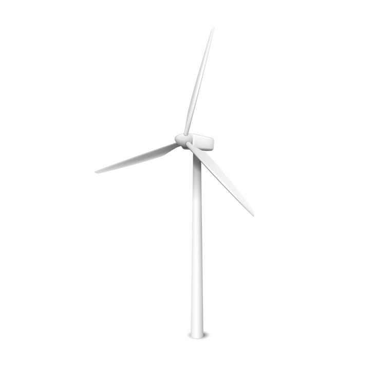 白色的发电风车风力发电图片免抠素材