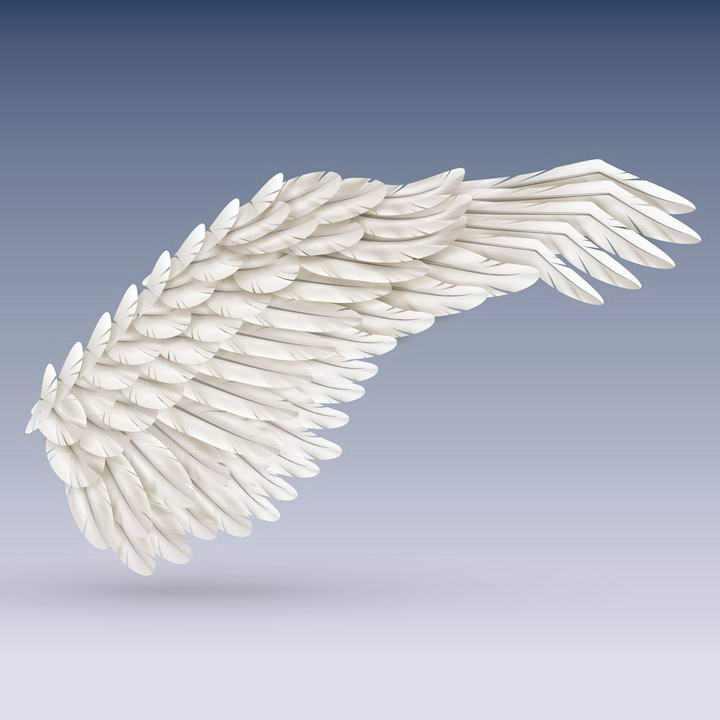 一款白色的翅膀天使翅膀图片免抠素材