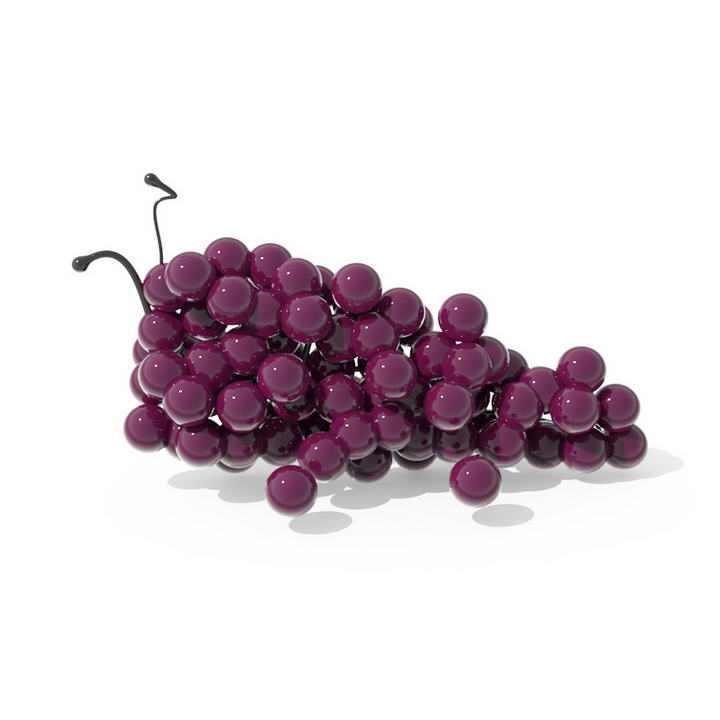 一串透亮的紫色葡萄水果图片免扣素材