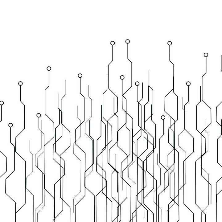 抽象科技风格点线电路板线路线条装饰图片免抠素材