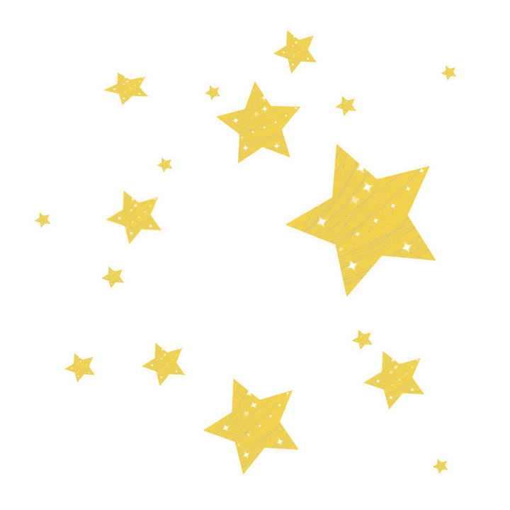 黄色五角星装饰品图片免抠素材