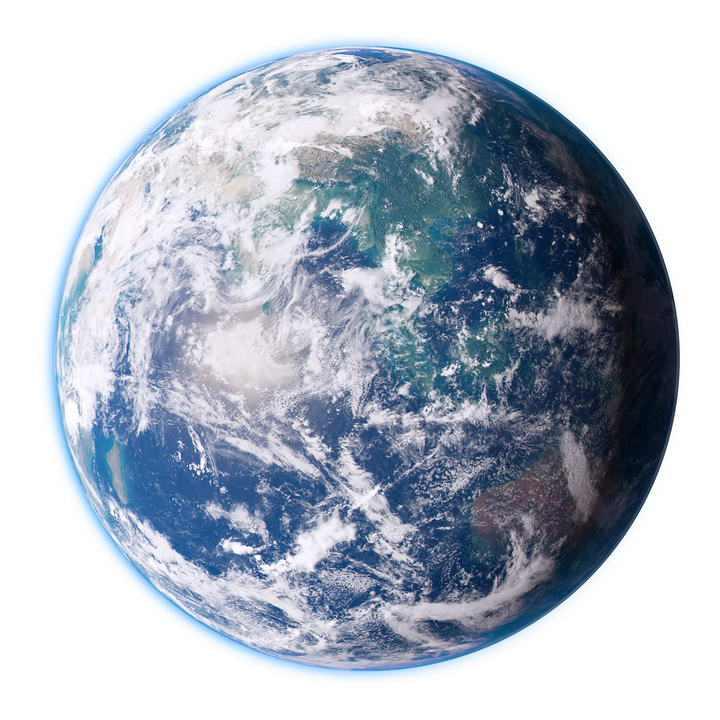 高清唯美地球照片图片免抠素材