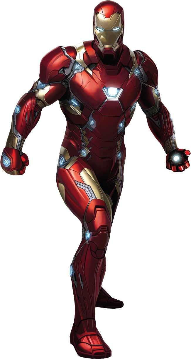 钢铁侠Mark50战甲标准正面照漫威电影超级英雄图片免抠素材