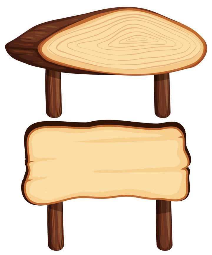 两款带年轮的木块木板图片免扣素材