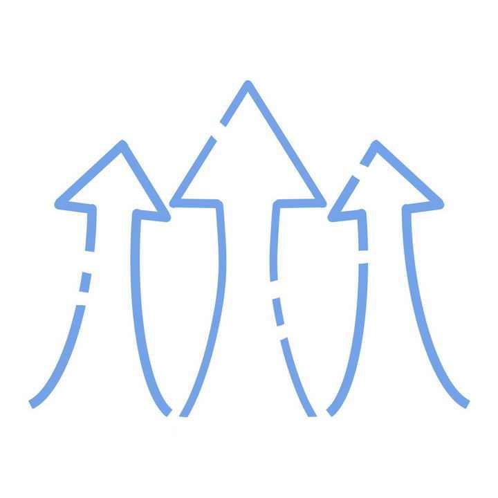 断点蓝色线条箭头图片免抠素材