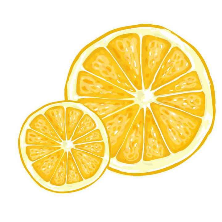 水彩画风格手绘橙子水果图片免抠素材