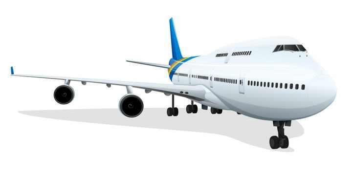 一款波音747客机飞机图片免抠素材