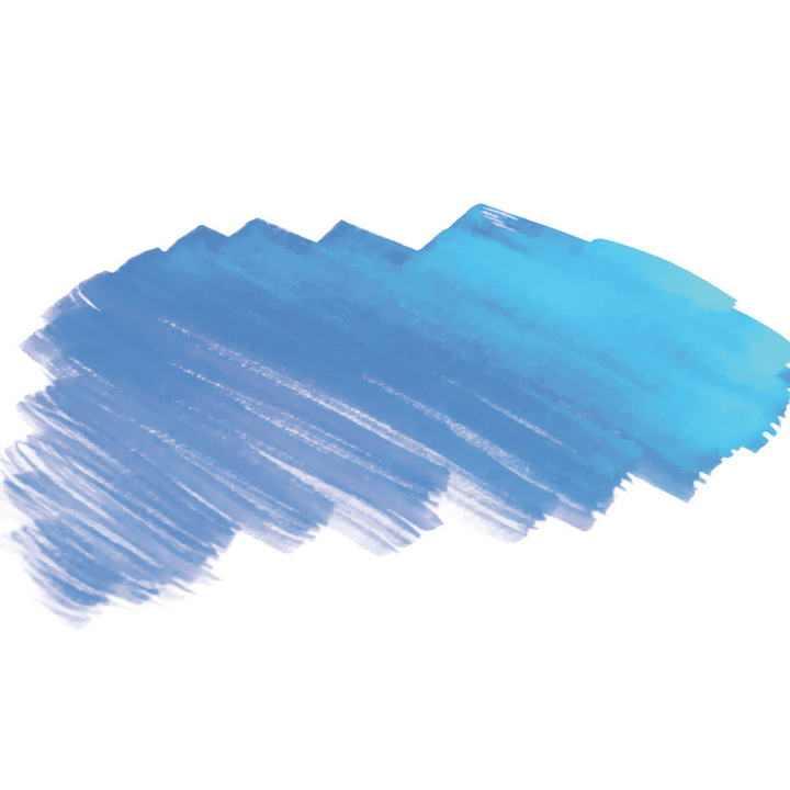 蓝色油漆涂鸦风格笔刷装饰图片免抠素材