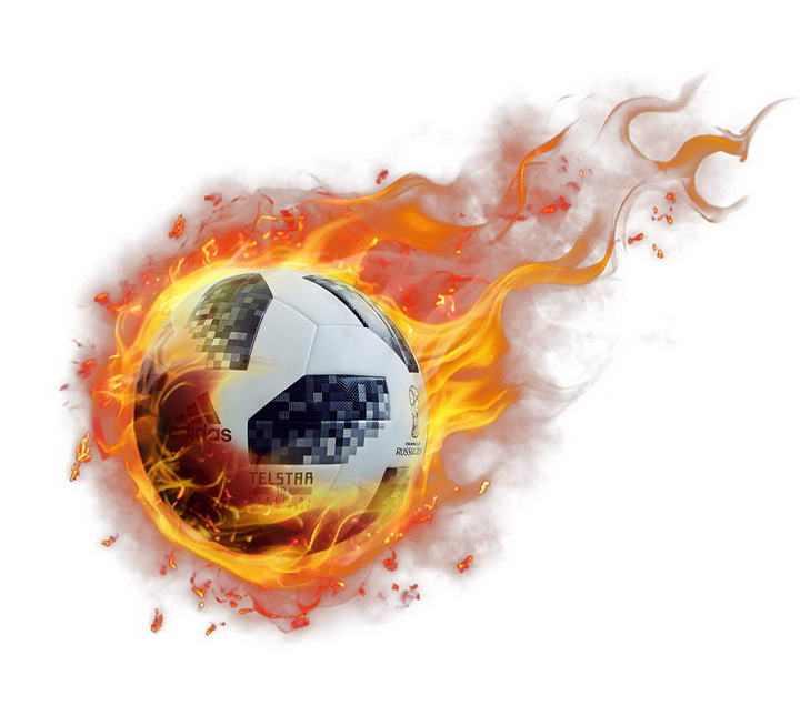 着火的足球图片免抠素材