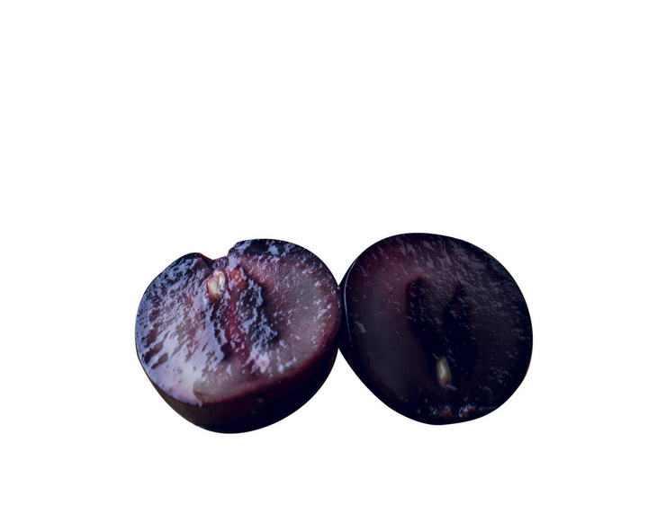 切开的紫色葡萄水果图片免抠素材
